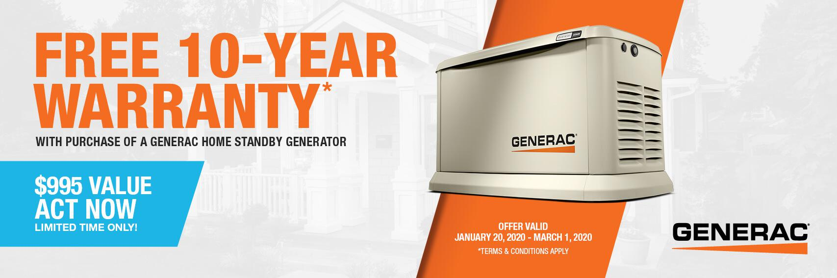 Homestandby Generator Deal | Warranty Offer | Generac Dealer | Manchester, MI